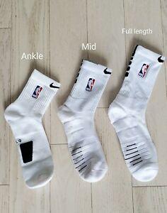 Nike NBA Elite Quick Socks  - White & Black - Ankle/Mid/Full Length
