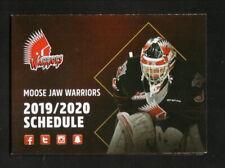 Moose Jaw Warriors--2019-20 Pocket Schedule--WHL