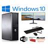 FAST DELL/HP QUAD CORE PC COMPUTER DESKTOP TOWER WINDOWS 10 WIFI DUAL SCREEN PC