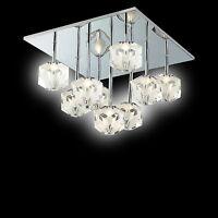 LED Kristall Deckenleuchte mit Farbwechsler Lampe Design Wohnzimmerlampe Küchen