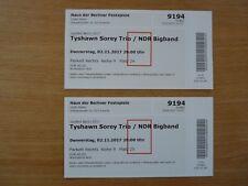 2 Tickets Tyshawn Sorey Trio und NDR Bigband beim Jazzfest Berlin am Do 2.11.201