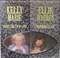 """KELLY MARIE / ELLIE WARREN - Feels Like I'm In / Shattered Glass ~ 12"""" Single PS"""