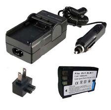 BLM-1 Battery&Charger for OLYMPUS Evolt E-520 E-510 E-500 E-300 E-5 E-3 DSLR Cam