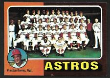 1975 TOPPS LARGE #487  HOUSTON ASTROS Team Card  ( Unmarked Boxes )  EX-MINT  A
