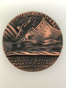 German/Germany WWI Karl Goetz Lusitania medal - GERMAN ISSUE MEDALLION '5 MAI'