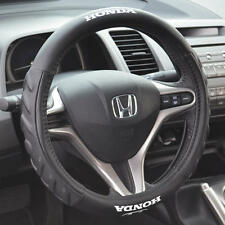 Black Cushion Grip Synth Leather Steering Wheel Cover for Honda Civic 2006-2015