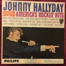 JOHNNY HALLYDAY Sings America's Rockin Hits LP Philips mono