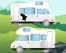 2x Bald Eagle Caravan Graphics Kit, navigation, auto sleeper sticker decals
