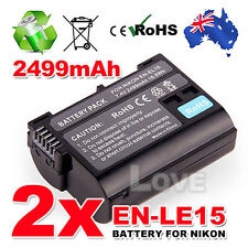 2x Backup Battery for Nikon EN-EL15 Battery D7000 D7100 D800 D800E D600 Camera