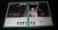 Larry Bird 1982 NBA Framed 12x18 Advertising Display Celtics