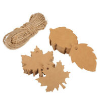 100Pcs Blank Maple Leaf Kraft Paper Tag Wedding Favour Gift Tags Baking Label