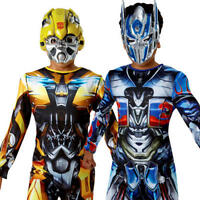 Bumble Bee & Optimus Prime Boys Fancy Dress Transformers Robot Superhero Costume