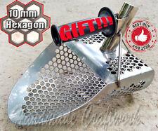 Beach Sand Scoop Shovel Metal Detector Hunting Tool Stainless Steel Coob Hex-10