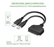 USB 3.0 to SATA 22Pin Data Power Cable Adapter 2.5 Inch HDD For PC Laptop Mac