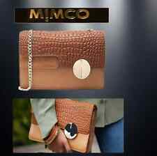 MIMCO INSIGNIA CLUTCH SHOULDER BAG in HONEY LEATHER +D'bag rrp$399