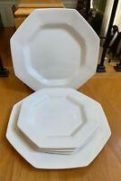 "Nikko CLASSIC WHITE 10 3/4"" Dinner Plates Set of 2 + 3 8 1/4"" Salad Plates"