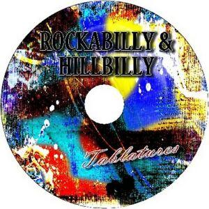 ROCKABILLY / HILLBILLY BASS & GUITAR TAB CD TABLATURE GREATEST HITS BEST OF