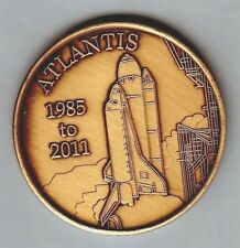 "N619    NASA    BRONZE    MEDAL,   SHUTTLE  ""  ATLANTIS ""   1985 - 2011"