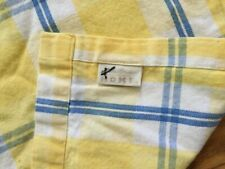 "Eddie Bauer Home ""Plaid - Blue/White/Yellow Fabric Shower Curtain, All Cotton"