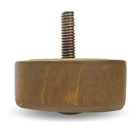 "1"" Low Profile Short Wood Round Cylinder Furniture Legs [5/16"" Bolt] - Set of 4"