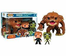 "STAR WARS Rancor 6"" with Luke Skywalker and Slave Oola US Exclusive Pop! 3 Pack"