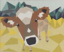 Cow Abstractions - foundation paper pieced quilt PATTERN - Violet Craft