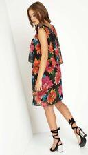 Roman Originals Tropical Vestido de superposición de impresión Bnwt Talla Plus 18 boda de vacaciones