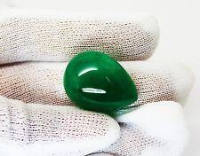 29.39 Ct Fine Natural Emerald Pear Cabachon Zambia UnTreated Loose GemStone