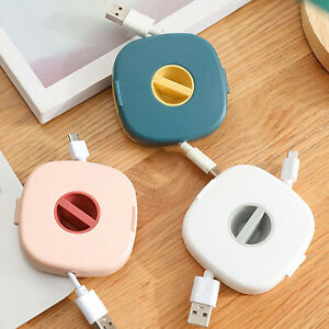 3Pcs Cord Organizer Case Management USB Cable Storage Wire Winder Reel Travel