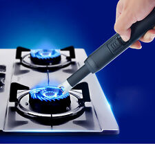 USB Rechargeable Electric Arc Lighter Gas Stove Igniter Windproof Gift Black New