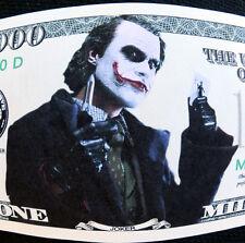 The JOKER why so serious?? FREE SHIPPING! Million-dollar novelty bill