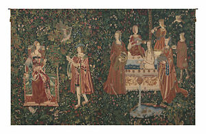 Bath and Reading in the Garden Belgian Wall Tapestry