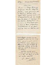 SAINT-SAENS Camille. Compositeur, organiste. Carte-Lettre autographe, 31 décembr