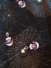 lularoe TC2 Black & White Cobwebs Skull Spiders 💀 🕷