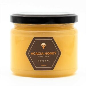 Acacia honey 400g RAW NATURAL sweetener for tea porridge PURE unpasteurized