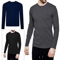 Threadbare Mens William Long Sleeve T-Shirt Cotton Stretch Round Neck Winter Top
