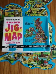 VINTAGE WADDINGTONS JIG MAP BRITISH ISLES. COMPLETE IN GOOD CONDITION no  560