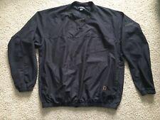Footjoy FJ Wind Rain V-Neck Black Golf Pullover Jacket Coat –Men's Size XL