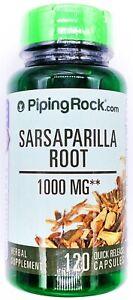 1000mg Sarsaparilla Root 120 Capsules 10:1 Extract Detox Dietary Supplement Pill