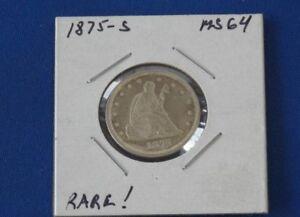 1875-S Liberty Seated Twenty 20 Cents B0601