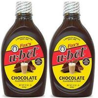 Fox's U-Bet Original Chocolate Flavor Syrup, 22 Oz, (Pack Of 2)
