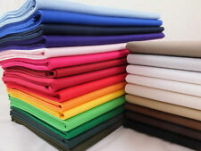By the Metre Solid/Plain Unbranded 100% Cotton Fabric