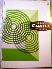 CELOTEX Acoustical Acoustic Ceiling Tile Products Catalog Cement ASBESTOS 1966