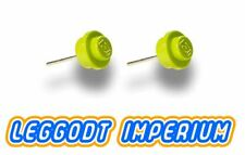 LEGO Custom Stud Earrings - Lime Green - FREE POST