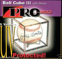 24 Pro Mold Baseball Cube III Holder Display Case with Ball Cradle  UV SAFE  NEW