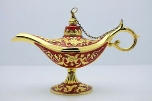 Aladin Genie Lamp Gorgeous Color Combo Gold Red