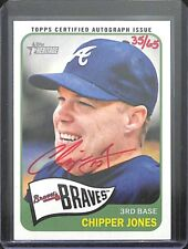 2013 Topps Heritage Real One Red Autograph #ROA-CJ Chipper Jones No 35 of 65
