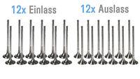 12x Einlassventil 12x Auslassventil BMW 1er E88 E82 135 i 3,0 N54 N54B30A NEU