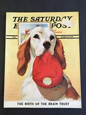 The Saturday Evening Post October 29 1938 Jack Murray Cover - English Setter