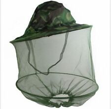 Mosquito Hat Net Camo Head Protector Bee Bug Mesh Insect Fishing Fly Net New